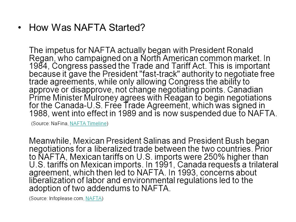 a closer look at nafta and its business impact Round seven of the nafta negotiations concluded in mexico city on march 5, 2018 the talks ended with united states trade representative, robert lighthizer, indicating that the us is prepared to.