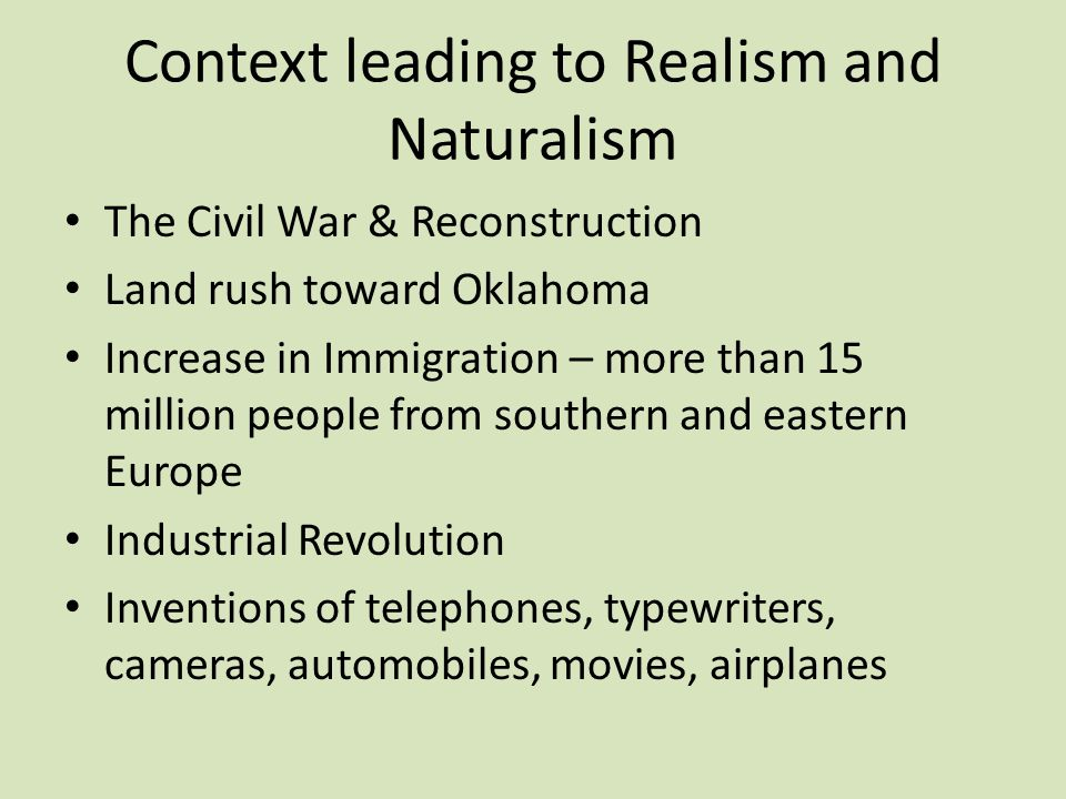 realism and naturalism authors