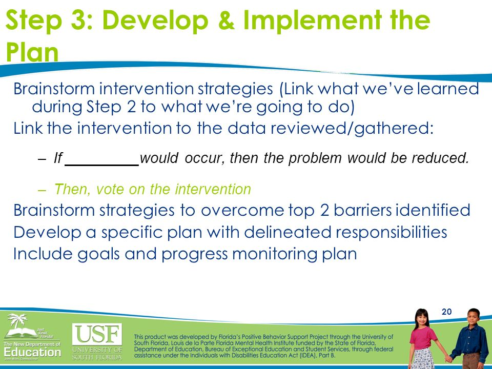 Step 3: Develop & Implement the Plan