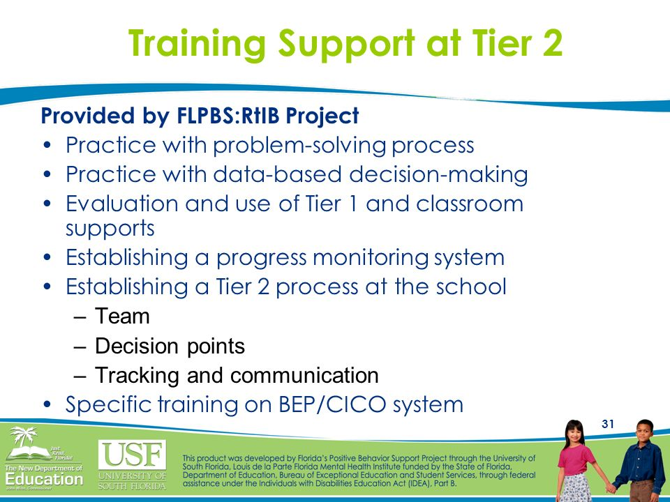 Training Support at Tier 2