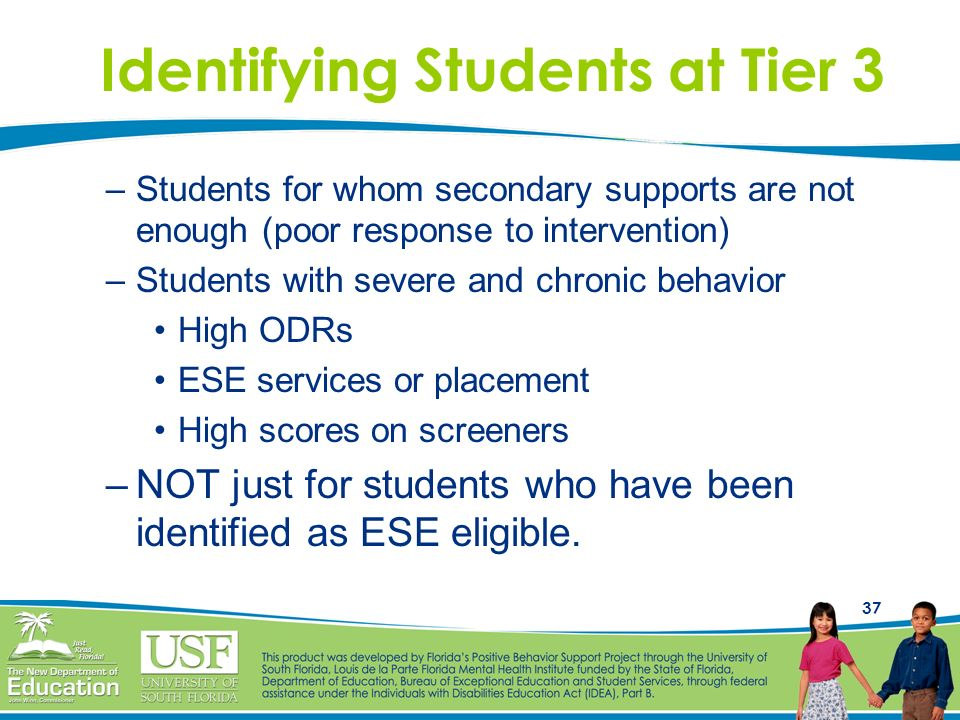 Identifying Students at Tier 3
