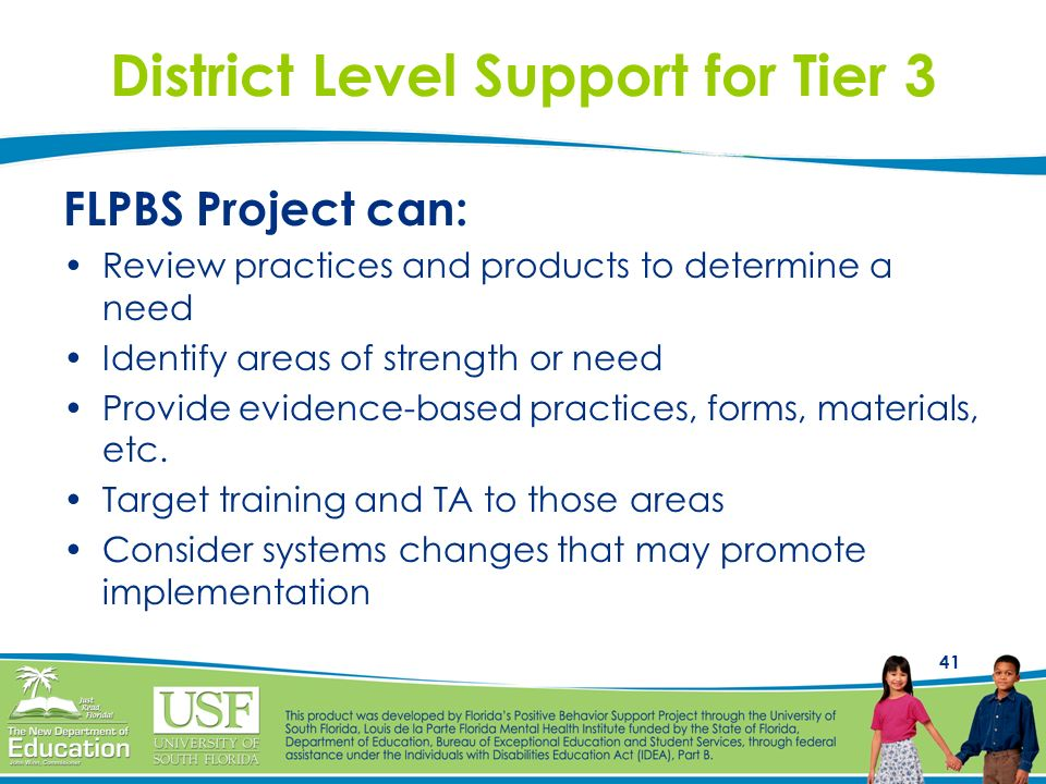 District Level Support for Tier 3