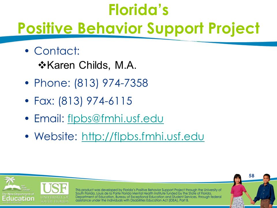 Florida's Positive Behavior Support Project