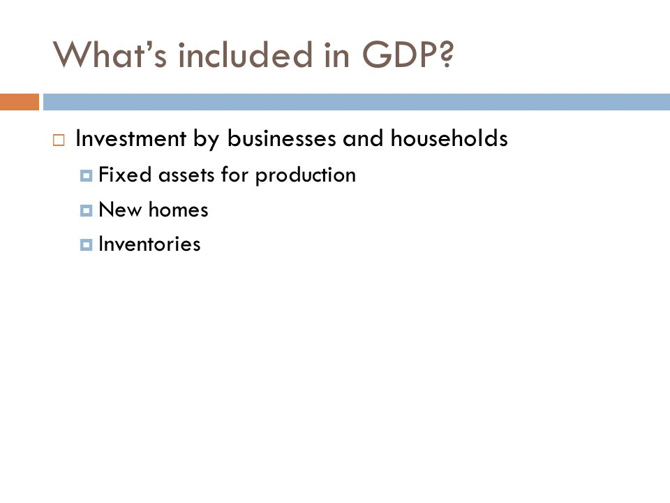 What's included in GDP Investment by businesses and households