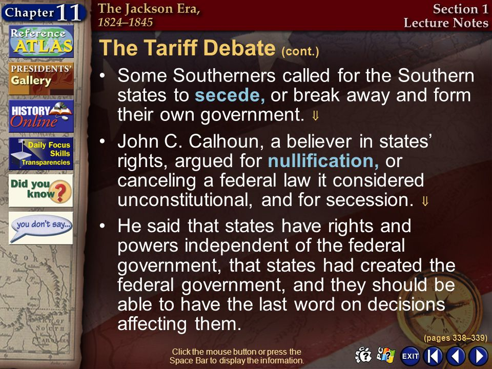 The Tariff Debate (cont.)