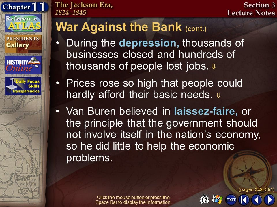 War Against the Bank (cont.)