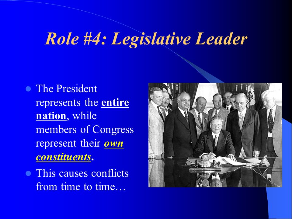 Role #4: Legislative Leader
