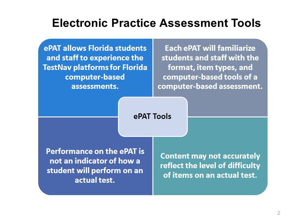Electronic Practice Assessment Tools