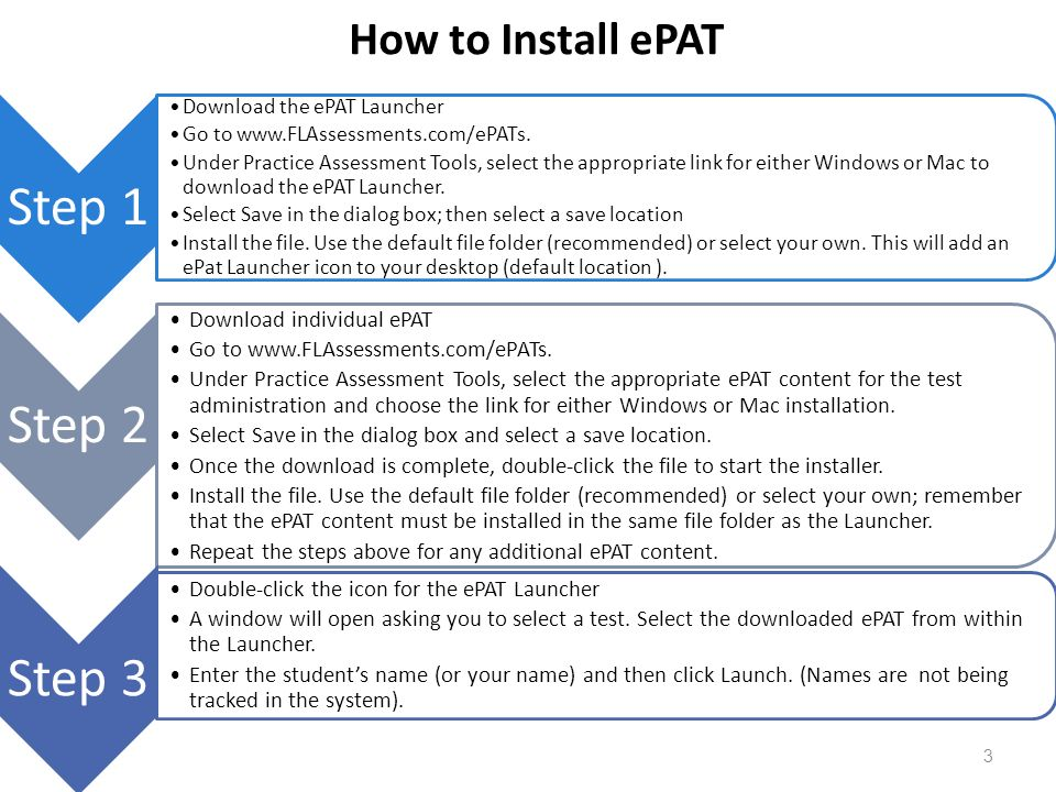 Step 1 Step 2 Step 3 How to Install ePAT Download individual ePAT