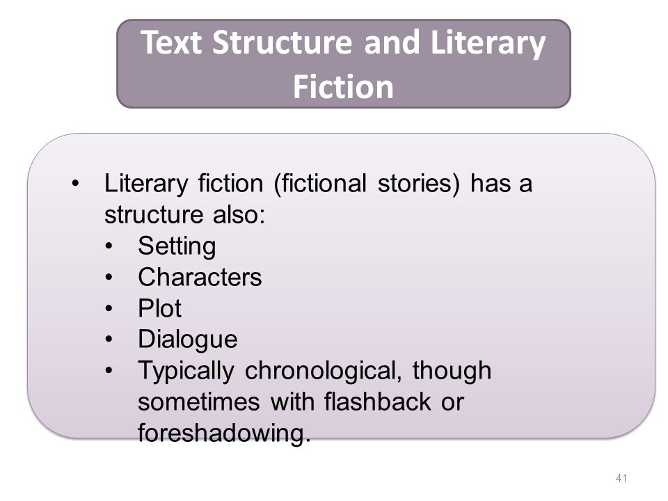 Text Structure and Literary Fiction