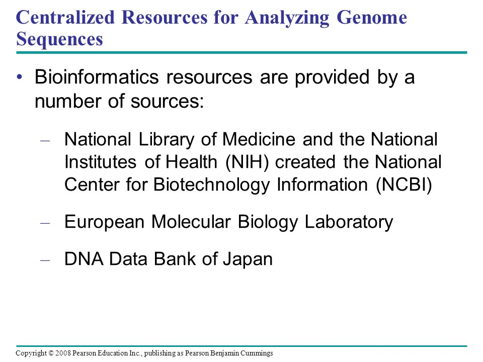 Centralized Resources for Analyzing Genome Sequences