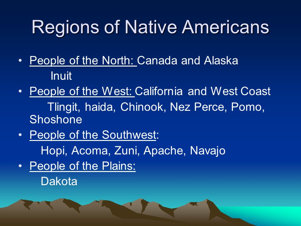 Regions of Native Americans
