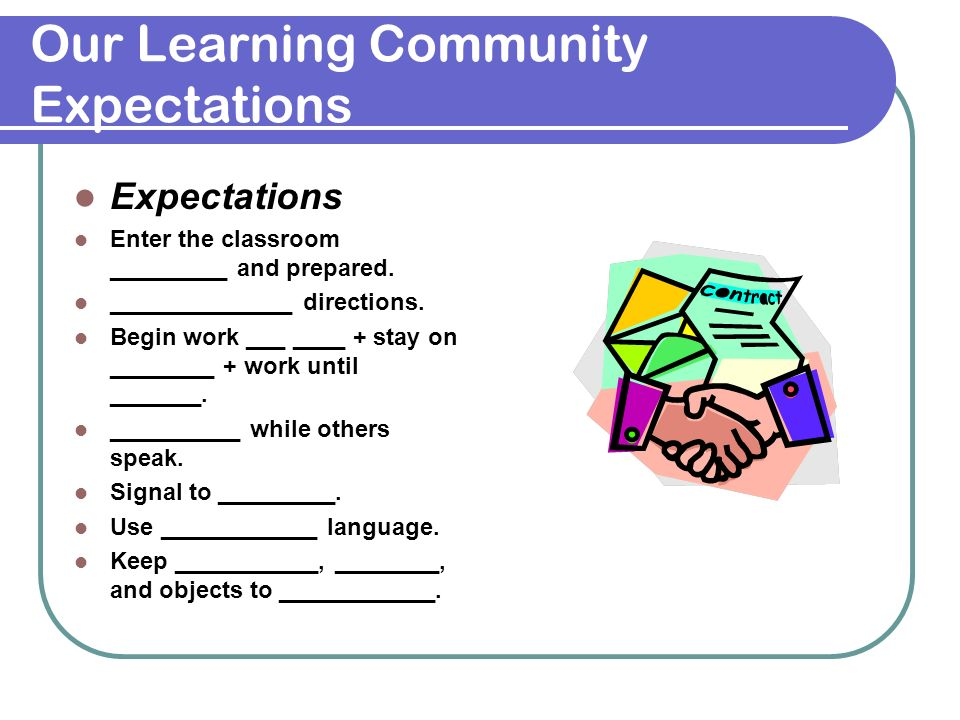 Our Learning Community Expectations