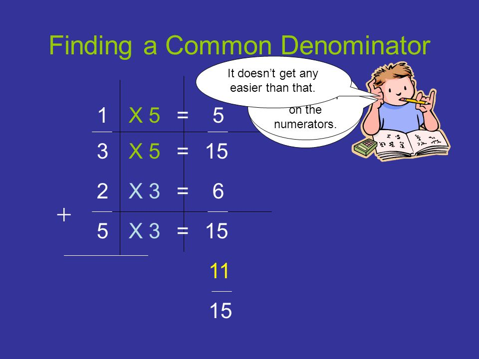 Finding a Common Denominator