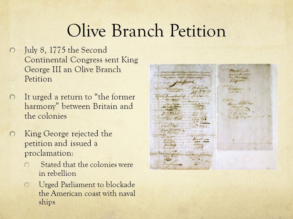 was the olive branch petition successful