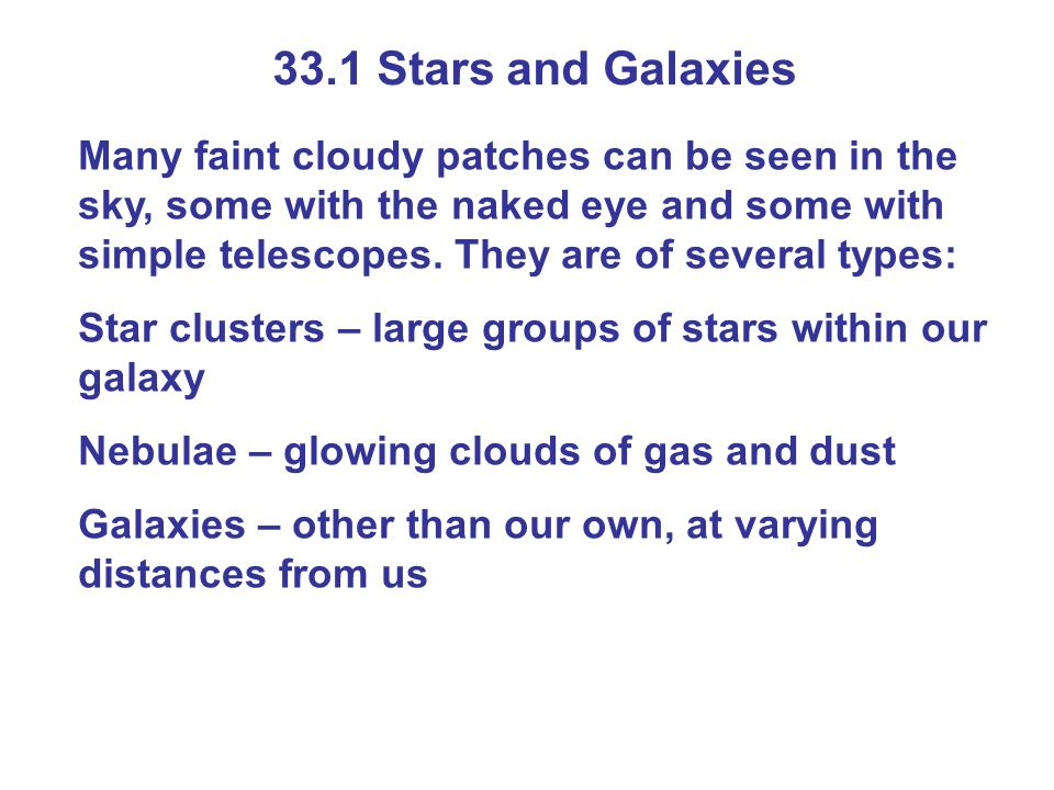 33.1 Stars and Galaxies