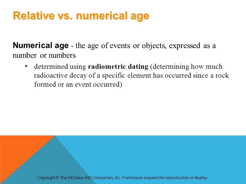 what is the difference between relative and numerical age dating dating up or down