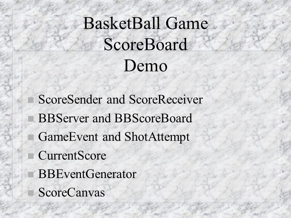 BasketBall Game ScoreBoard Demo