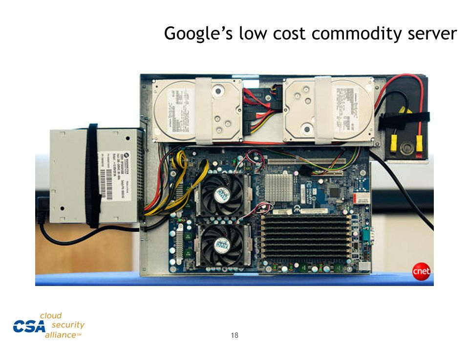 Google's low cost commodity server