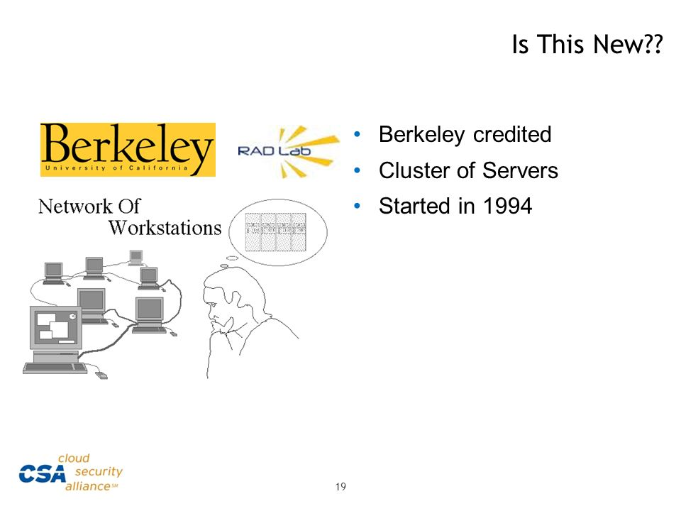 Is This New Berkeley credited Cluster of Servers Started in 1994