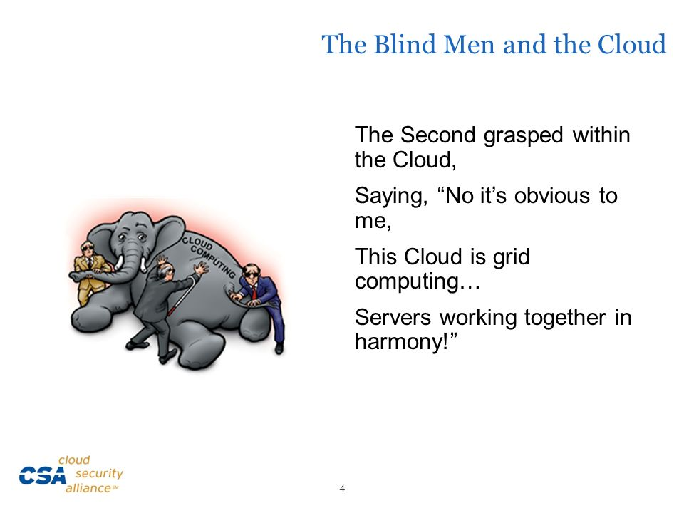 The Blind Men and the Cloud