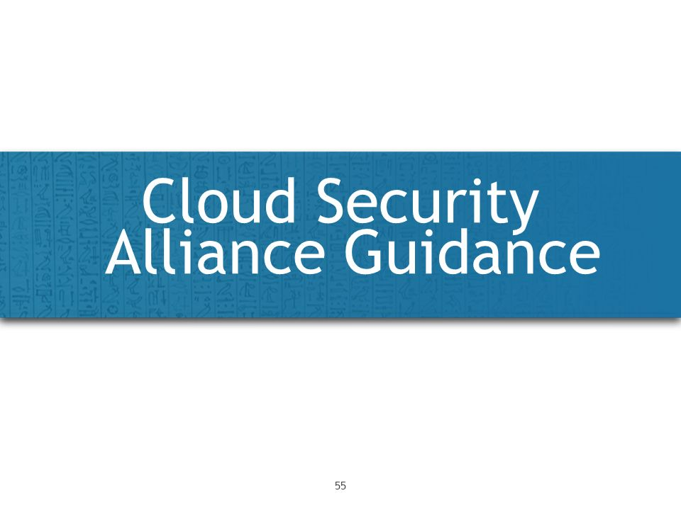 Cloud Security Alliance Guidance