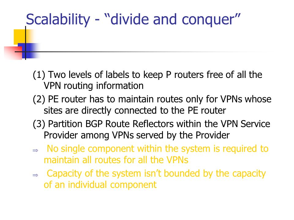 Scalability - divide and conquer