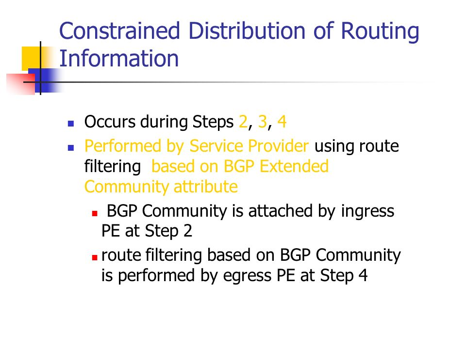 Constrained Distribution of Routing Information
