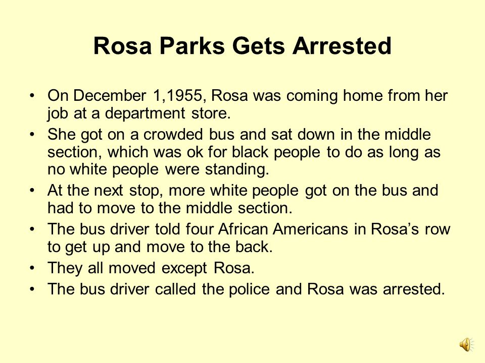 Rosa Parks Gets Arrested