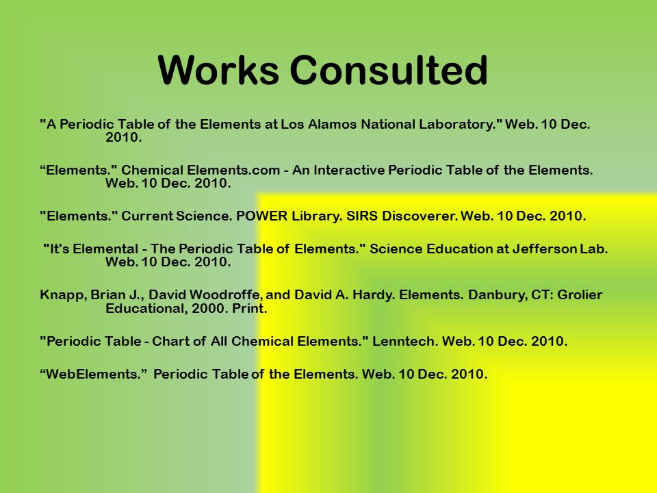 What is chlorine by anastasiya koziychuk ppt video online download works consulted a periodic table of the elements at los alamos national laboratory web urtaz Image collections