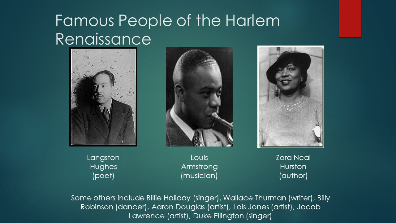 Famous People of the Harlem Renaissance