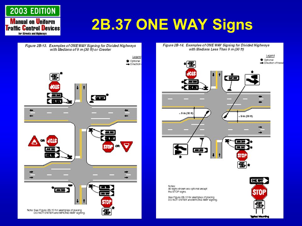 2B.37 ONE WAY Signs