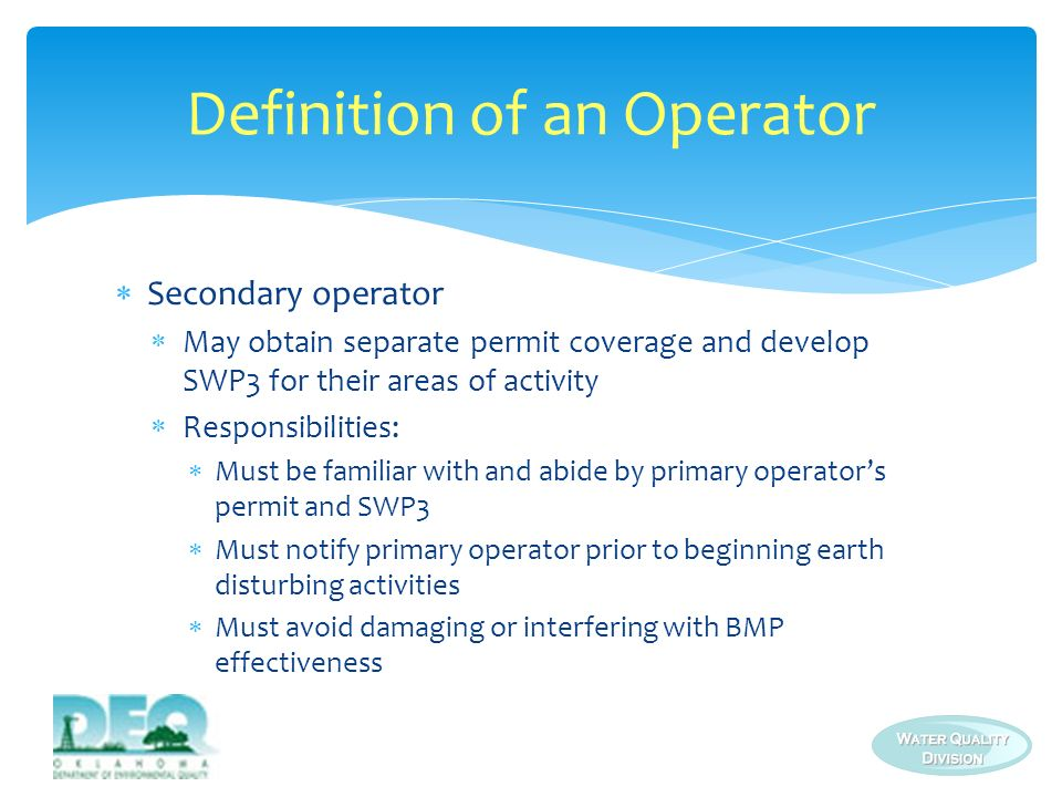 Definition of an Operator