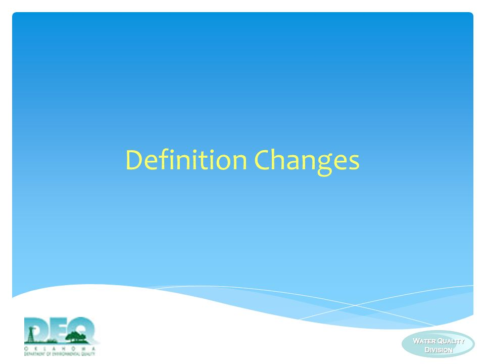Definition Changes