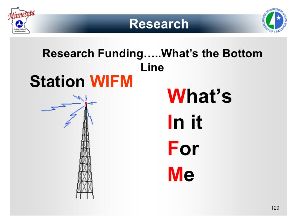 Research Funding…..What's the Bottom Line
