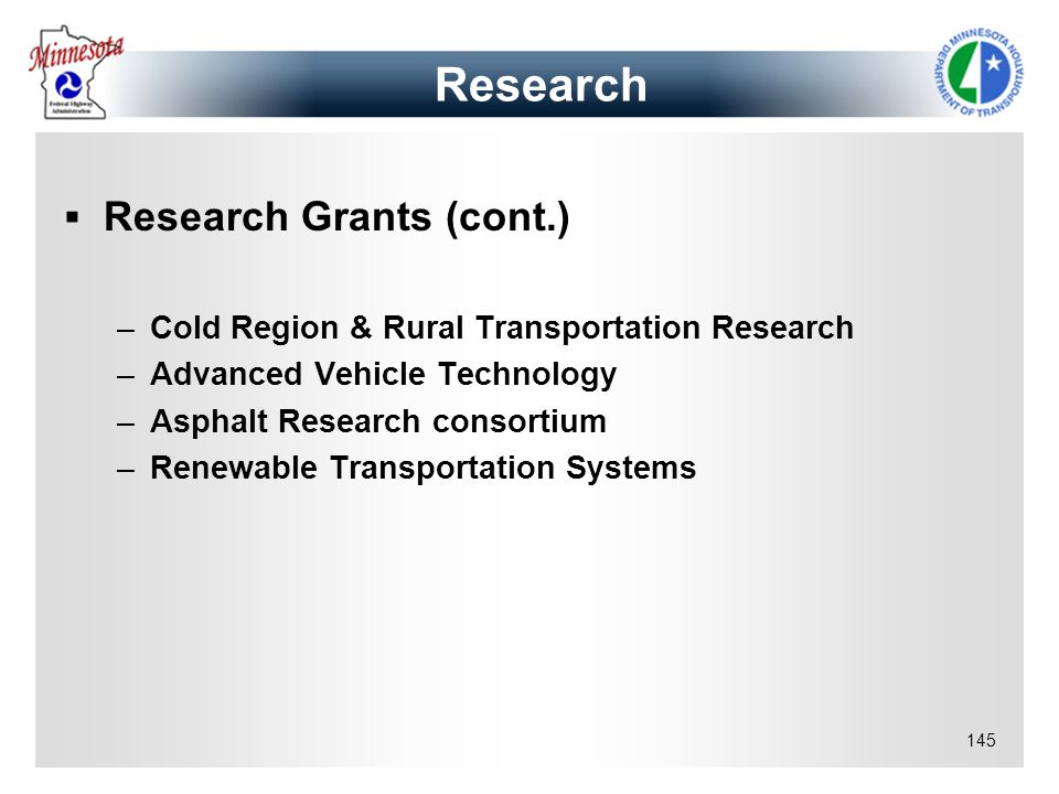 Research Research Grants (cont.)