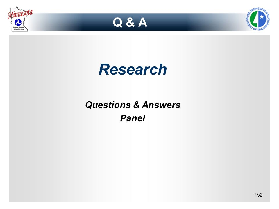 Q & A Research Questions & Answers Panel copy