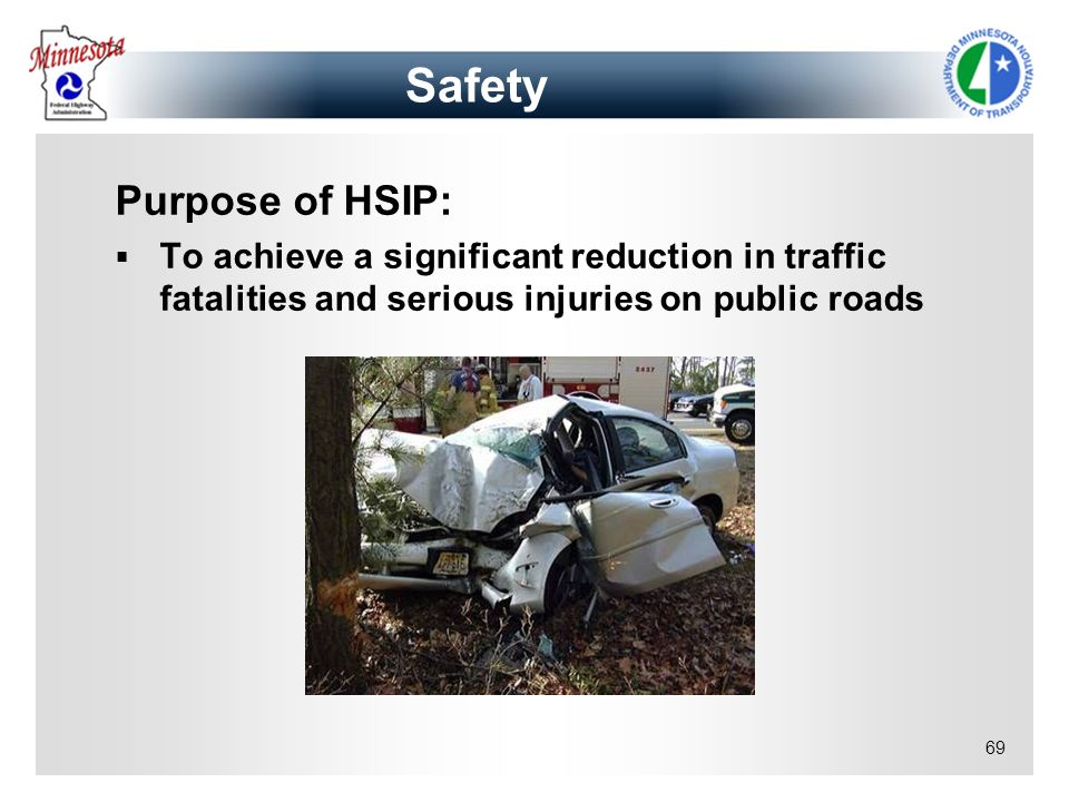Safety Purpose of HSIP: