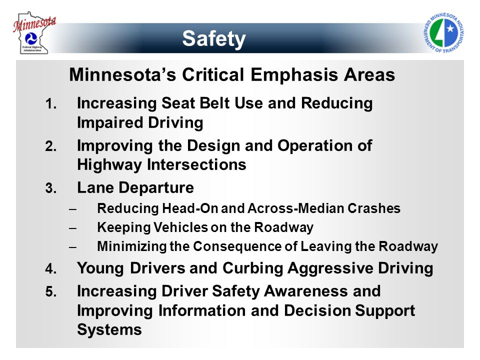 Minnesota's Critical Emphasis Areas
