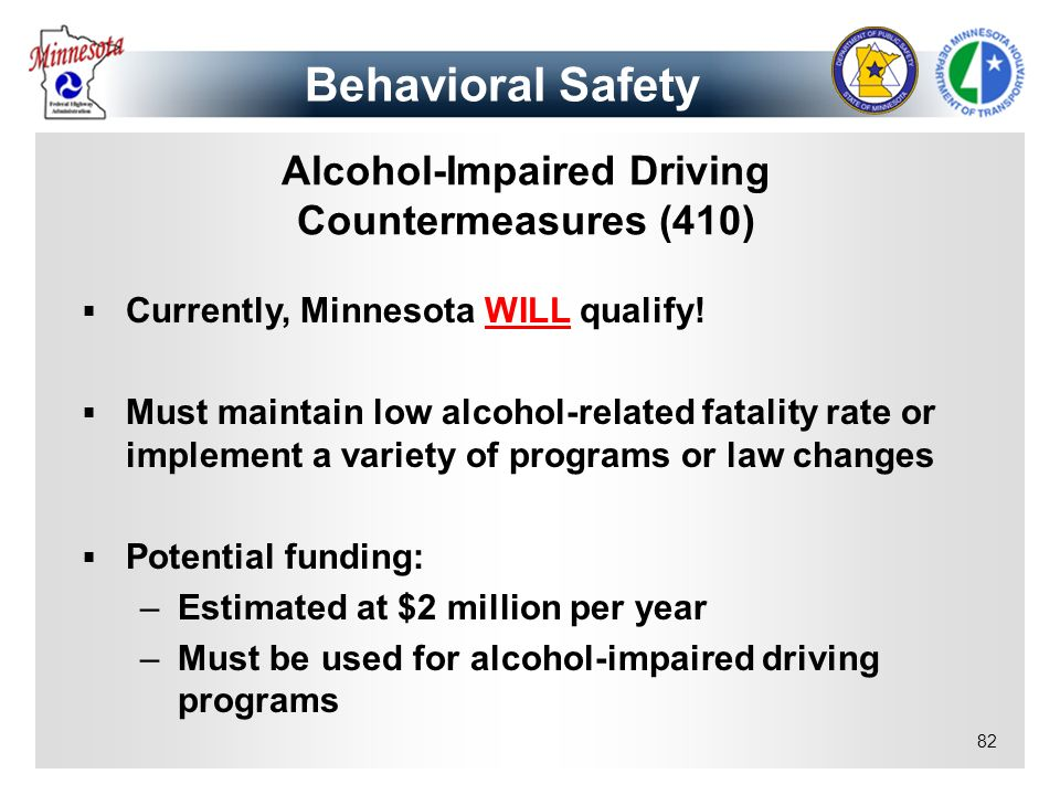 Alcohol-Impaired Driving Countermeasures (410)
