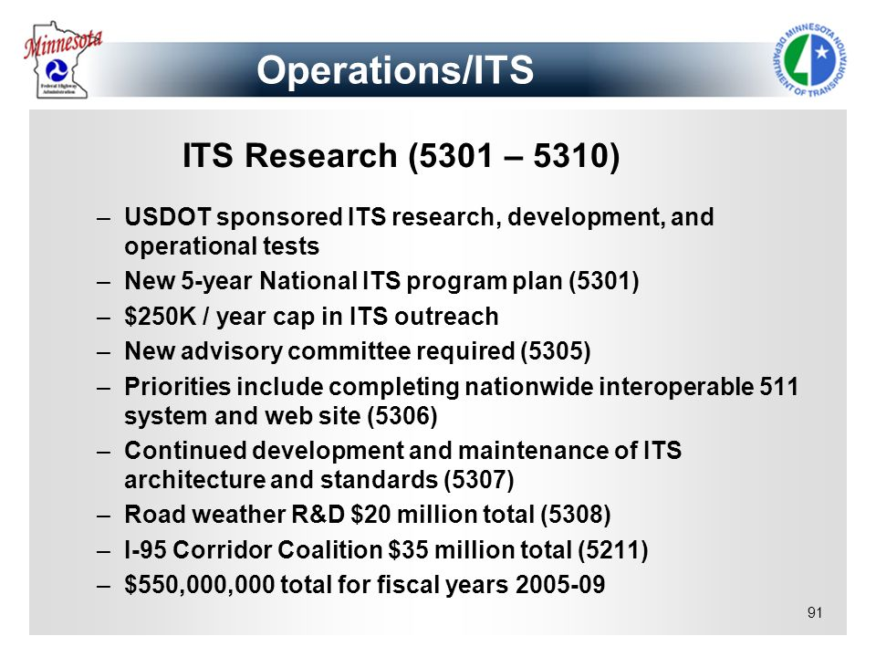 Operations/ITS ITS Research (5301 – 5310)