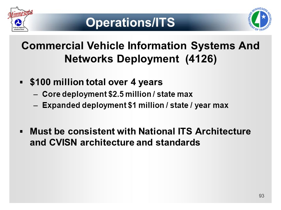 Commercial Vehicle Information Systems And Networks Deployment (4126)