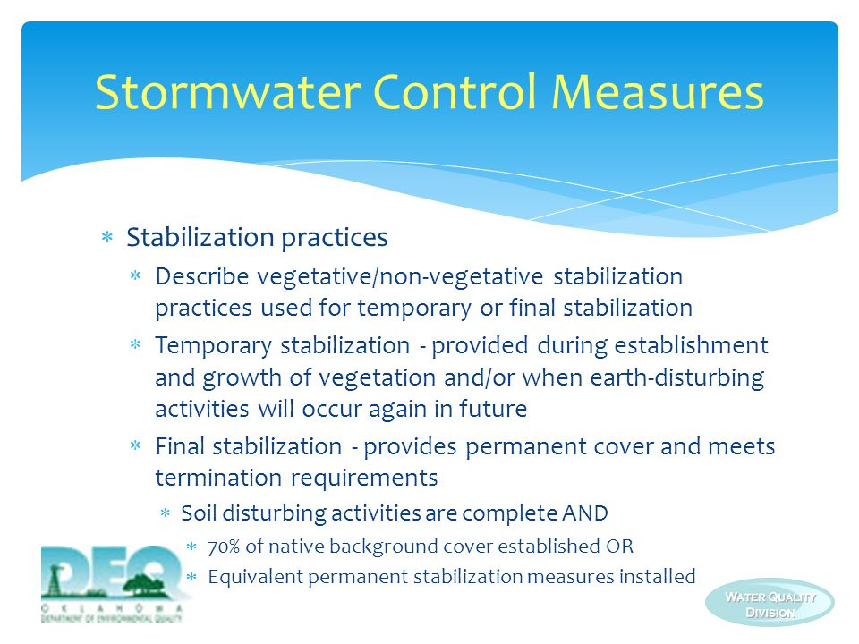 Stormwater Control Measures