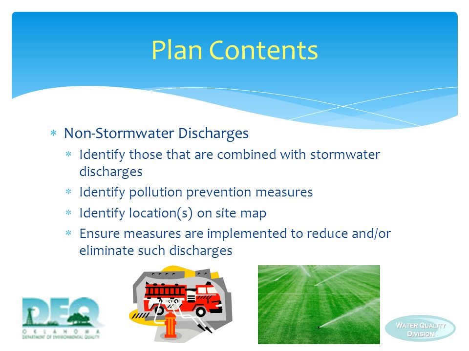 Plan Contents Non-Stormwater Discharges