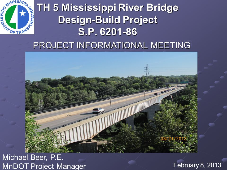 TH 5 Mississippi River Bridge Design-Build Project S P - ppt