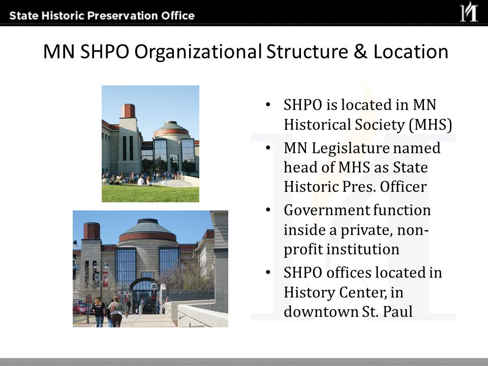 MN SHPO Organizational Structure & Location