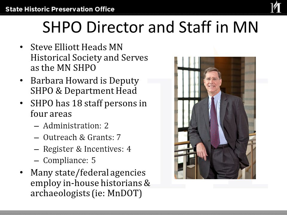 SHPO Director and Staff in MN
