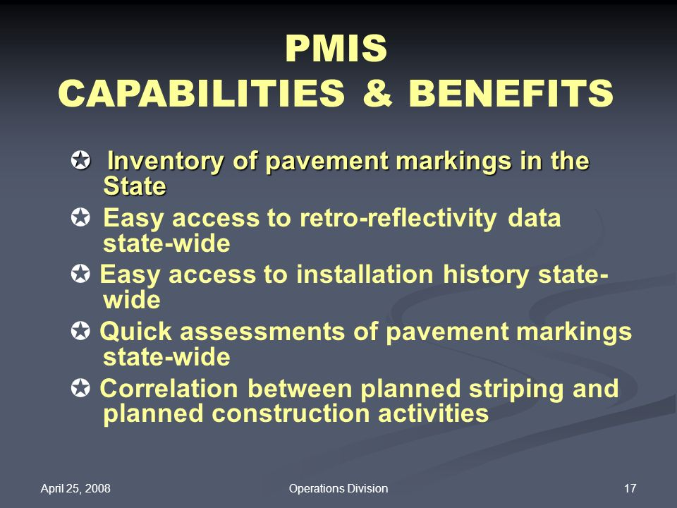 CAPABILITIES & BENEFITS