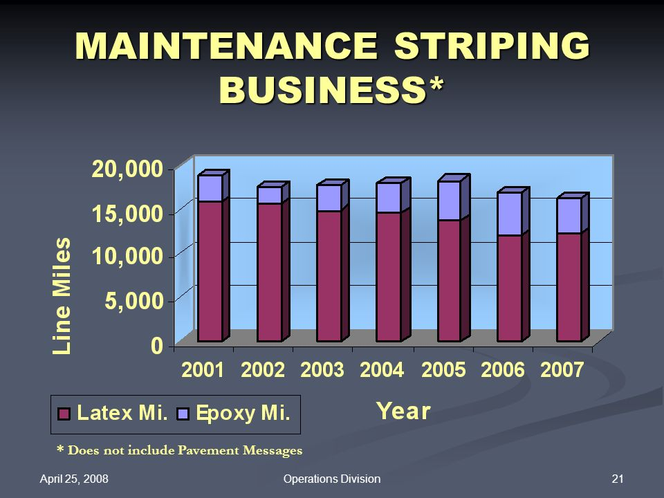 MAINTENANCE STRIPING BUSINESS*