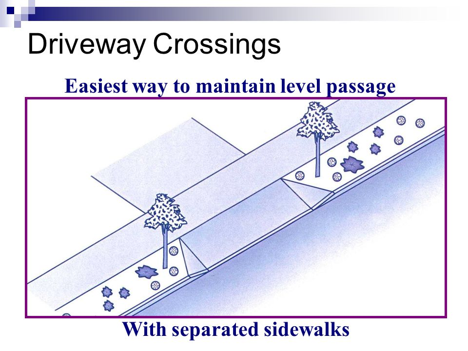 Easiest way to maintain level passage With separated sidewalks